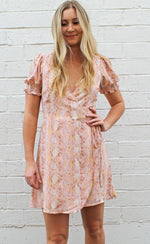 Peaches & Cream Wrap Dress
