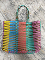"Oaxaca Bag (14""x11""x6"") 10"" Handle-Stripe Multi Color"