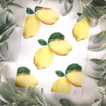 Lemon Watercolor Art Print