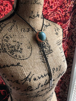 Resin and Copper Leaf Bolo Tie