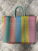 "Oaxaca Bag (14""x11""x6"") 6"" Handle-Multi Pastel"