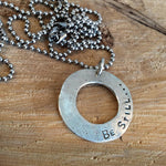 Be still prayer necklace