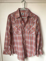 1980's pearl snap western shirt