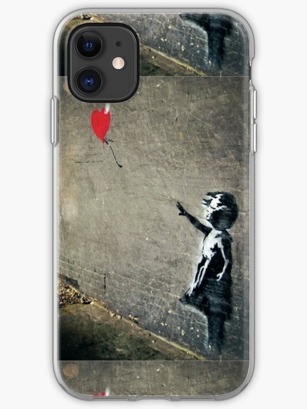 Banksy's Girl with a Red Balloon II iPhone 11 case