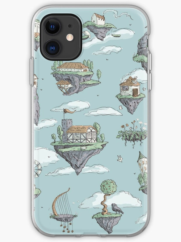 Coracle race - mice in lilies iPhone 11 case