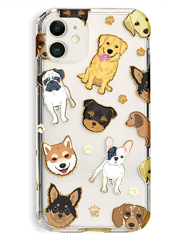 Pug in flowers iPhone 11 case