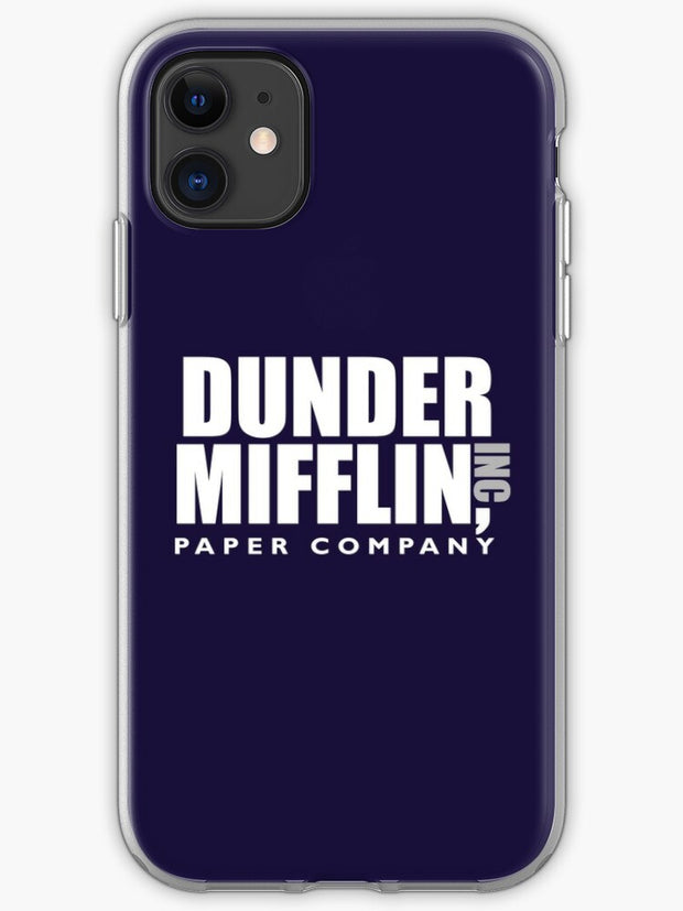 The Dunder Office Mifflin Inc. Design T-Shirt tshirt tee jersey poster Original Funny Gift Idea Dwight Best Quote From iphone 11 case