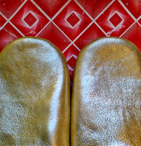 Soft leather slippers .. size 38