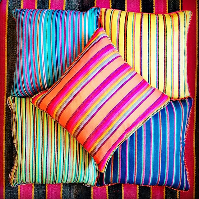 Mexican striped cushion