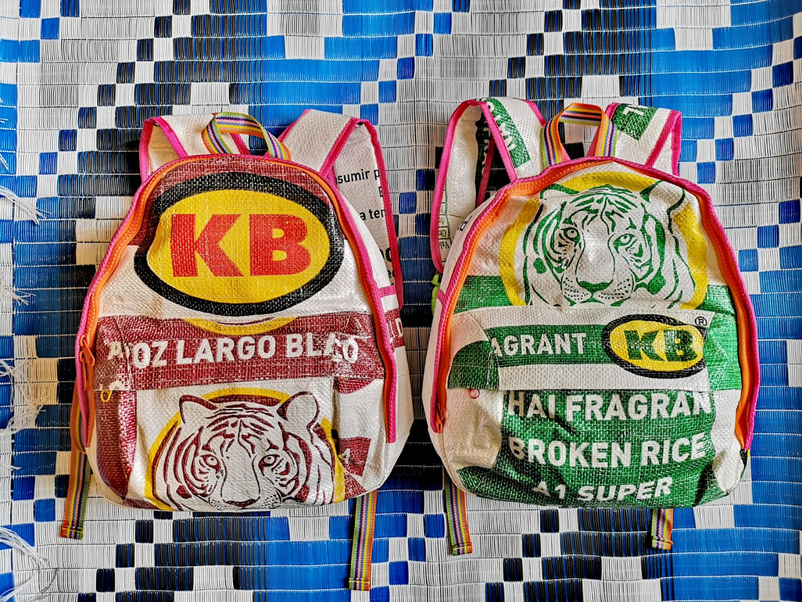 recycled rice sack bag