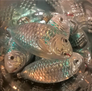 traditional german decoration fish Christmas Heirloom glass ornaments hand blown glass