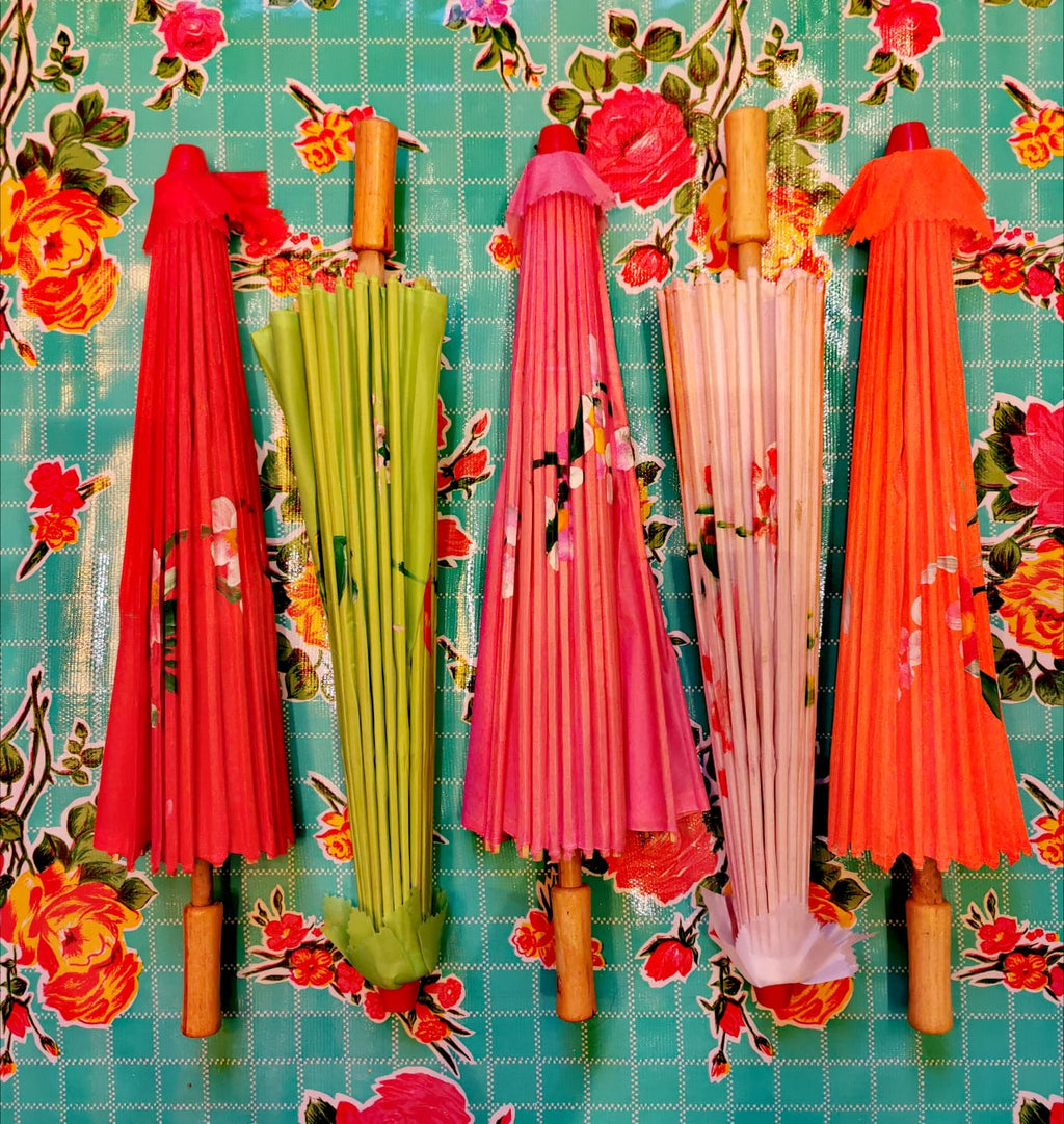 Chinese hand painted parasols