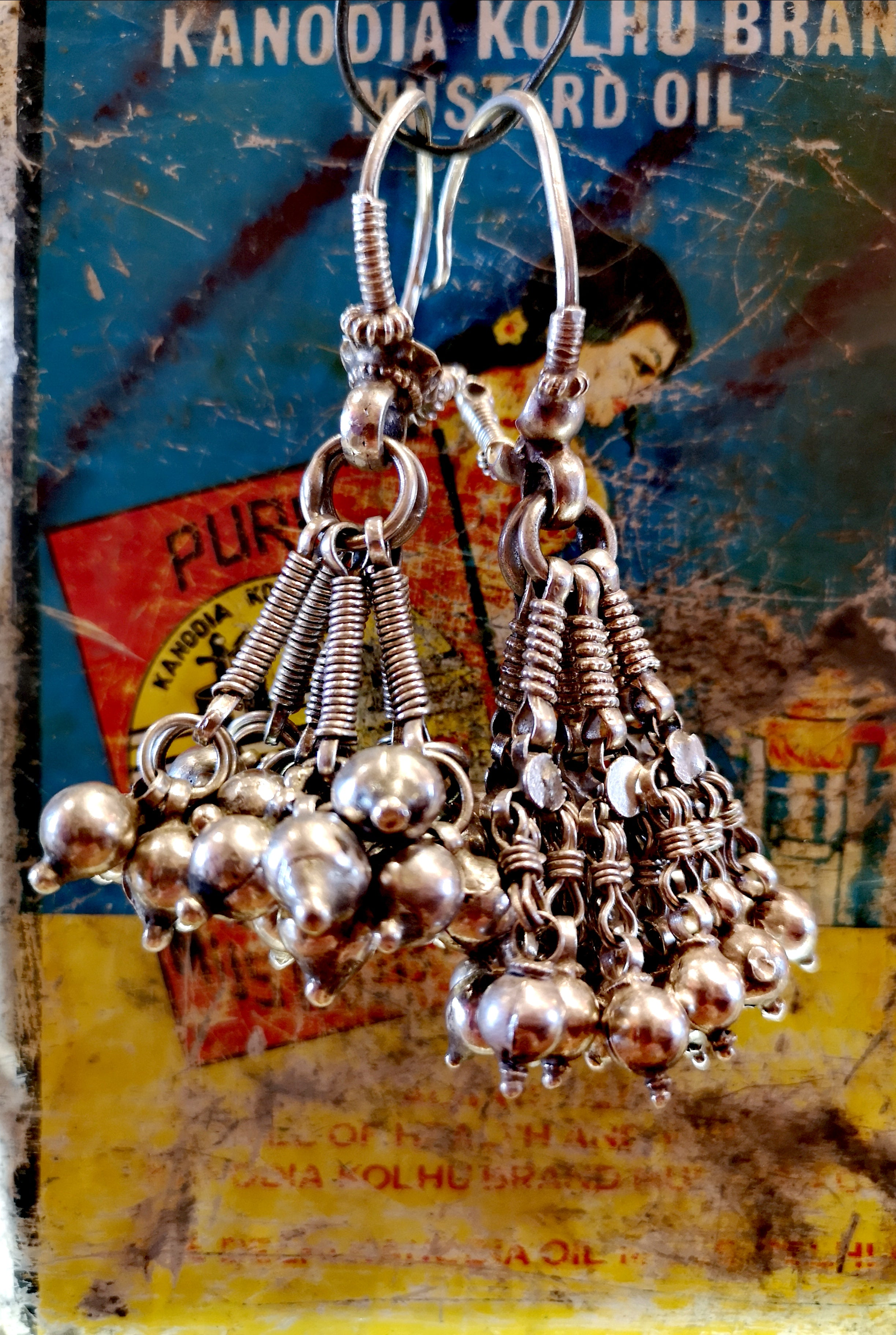 Tribal Rajasthani weighted bell earring