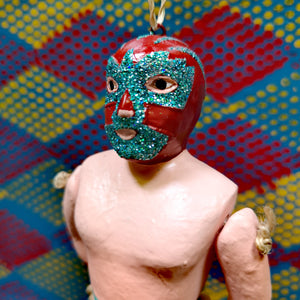 Jointed Luchador decorations