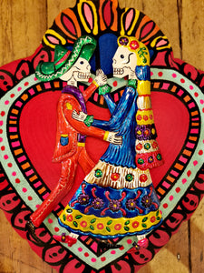 Dancing Day of the Dead couple