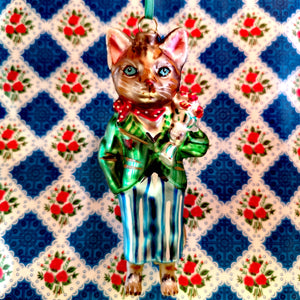 Nathalie Lete dressed cat ornaments
