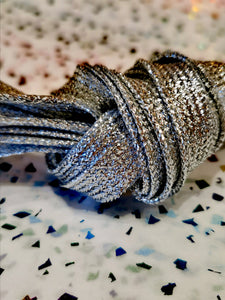Glitter metallic shoelaces
