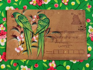 Hand painted indian postcards - Flora and Fauna