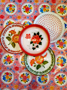 Enamel Trays traditionally used in Thailand, China and Vietnam to mention but a few!  Gorgeous decorative uses as well as practical!