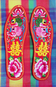 Lovely embroidered insoles
