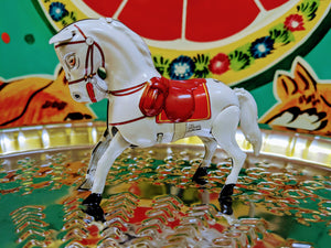 A magnificent Wind-up Circus Horse.