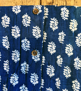 Block printed cotton pyjamas Size 1