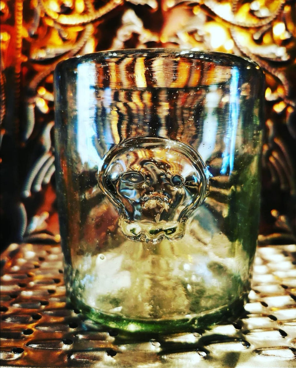 Recycled mexican embossed skull tumbler