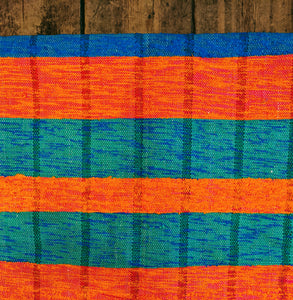 Recycled bright stripped chindi rugs