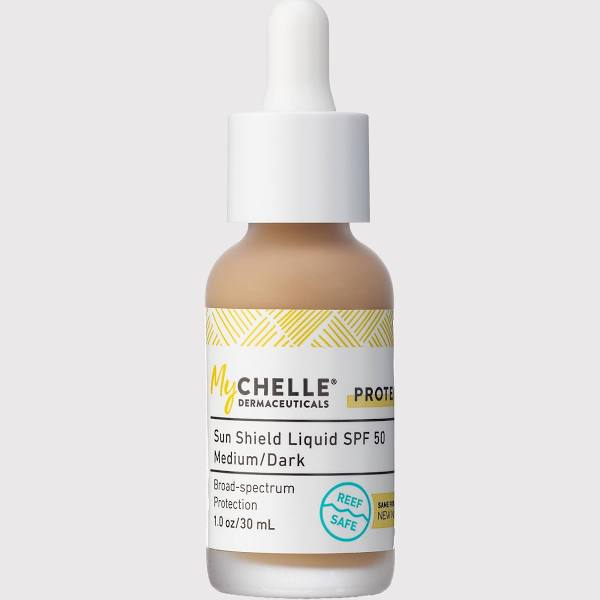 Mychelle Sun Shield Liquid SPF 50 Medium/Dark