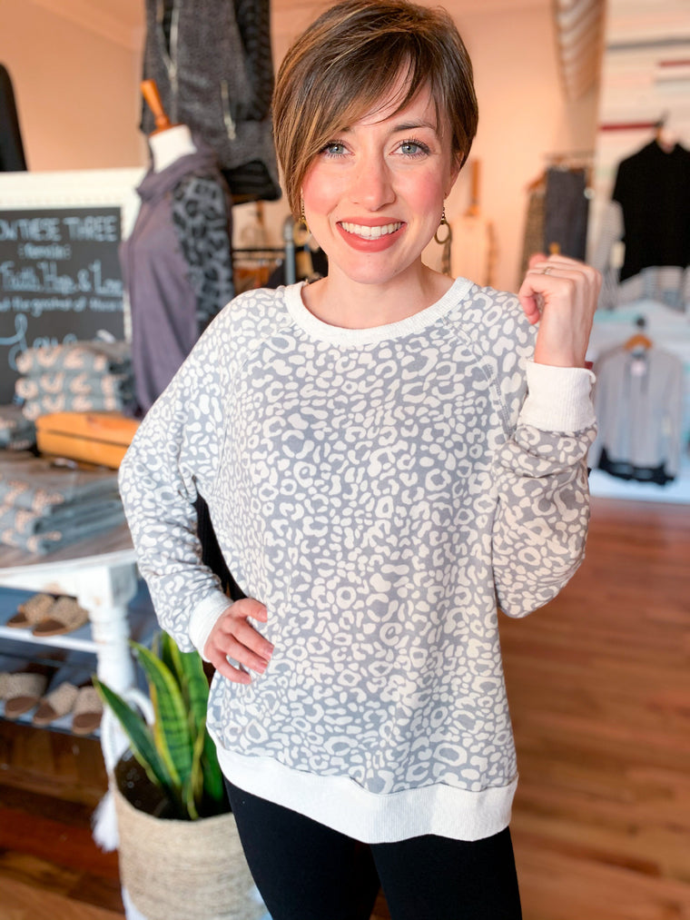 A Good Life Leopard Pullover-Carolyn Jane's Jewelry