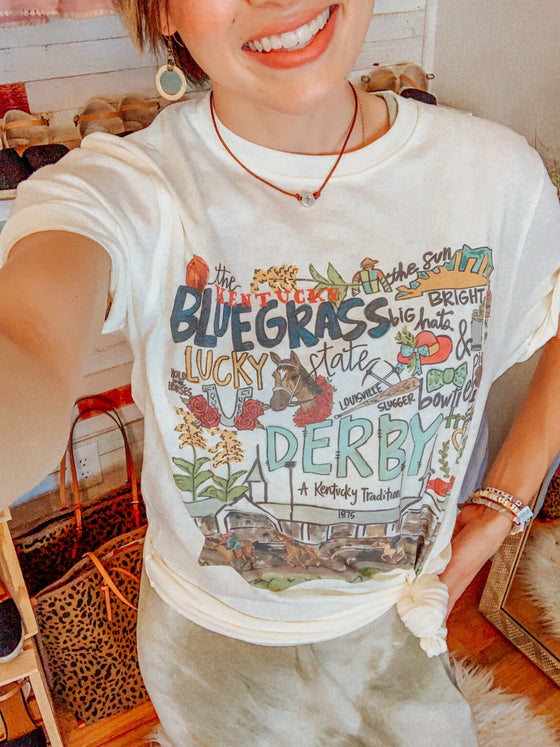 All About Kentucky Derby T-Shirt-Carolyn Jane's Jewelry
