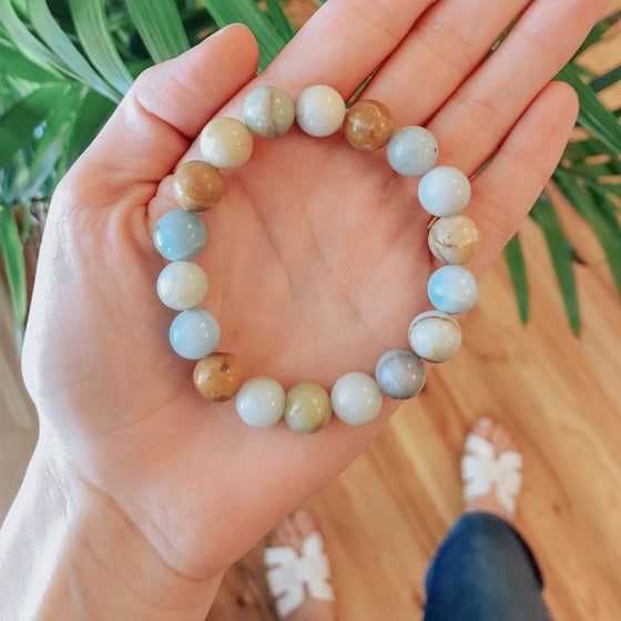 Amazonite Stretch Bracelet-Carolyn Jane's Jewelry