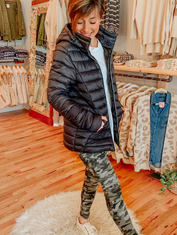 Bundle Up Puffer Jacket + Removable Hood-Carolyn Jane's Jewelry