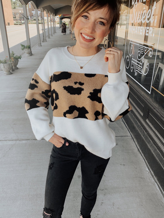 Can't Be Tamed Leopard Sweater-Carolyn Jane's Jewelry