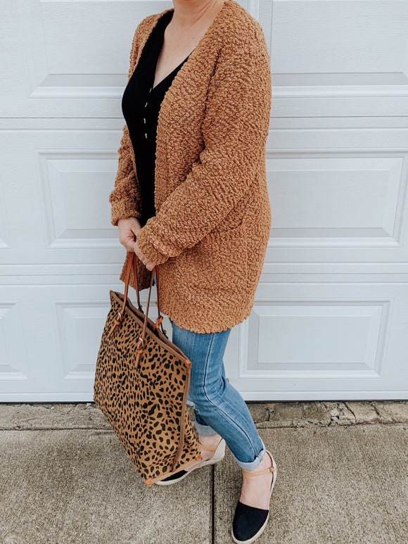 Cozy Caramel Popcorn Cardigan-Carolyn Jane's Jewelry
