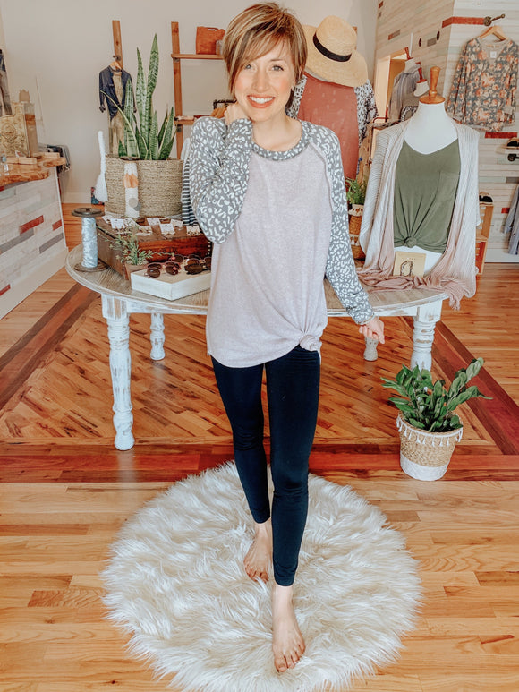Cozy Up Leopard Top-Carolyn Jane's Jewelry