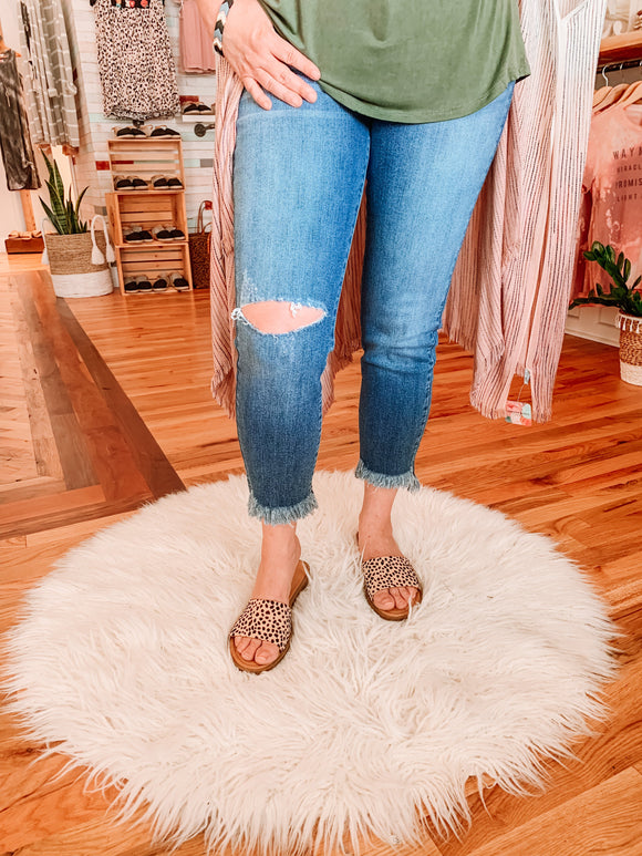 Feel Good KanCan Fray Ankle Jeans-Carolyn Jane's Jewelry