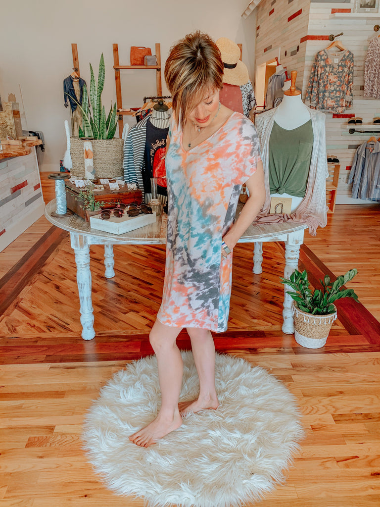 Feelin Good Tie-Dye Dress-Carolyn Jane's Jewelry