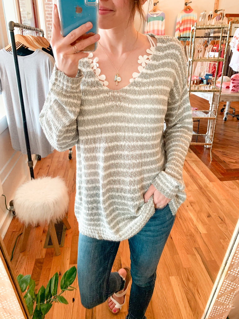 Feels Like Home Striped Spring Knit-Carolyn Jane's Jewelry