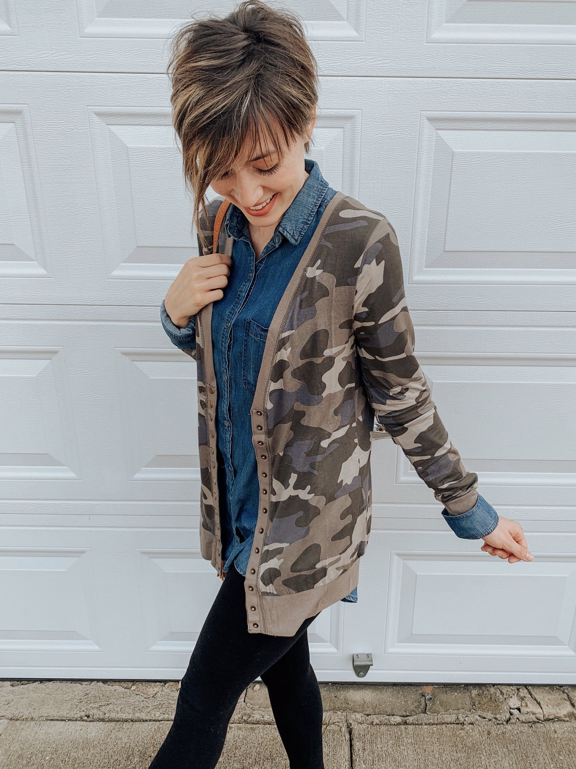 Harlow Camo Cardigan-Carolyn Jane's Jewelry