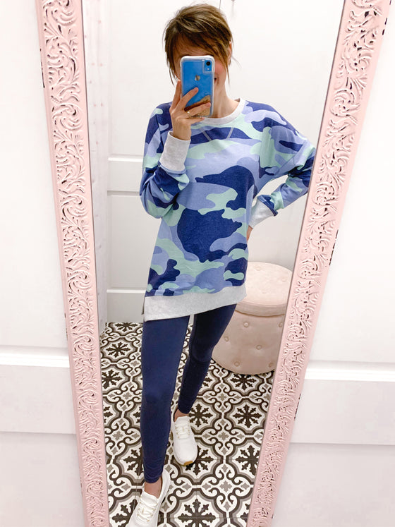 Keep Comfy Camoflauge Pullover-Carolyn Jane's Jewelry