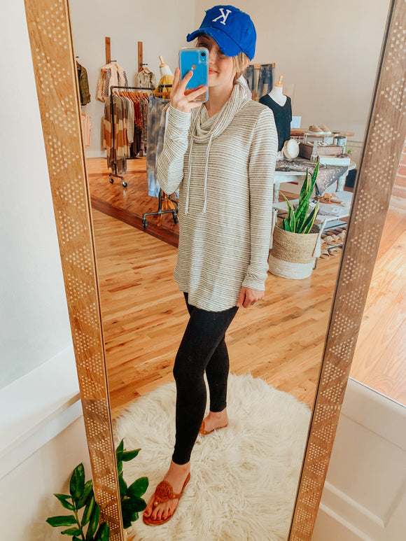 Lazy Sunday Cowl Neck Pullover-Top-Carolyn Jane's Jewelry