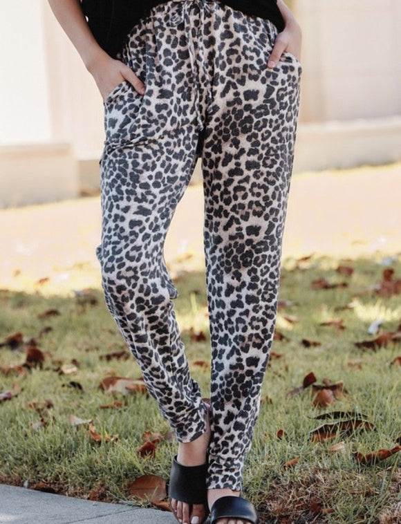 Leopard Comfy Joggers-Carolyn Jane's Jewelry