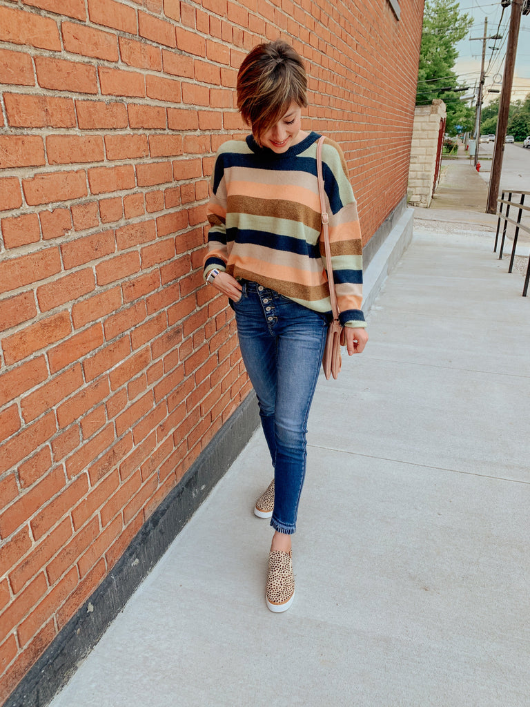 Marci Multi Stripe Sweater-Carolyn Jane's Jewelry