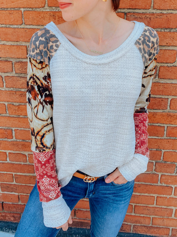 Paisley Patchwork Top-Carolyn Jane's Jewelry