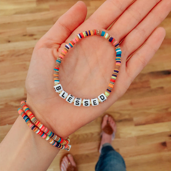 Positive Thoughts Rainbow Bracelets-Carolyn Jane's Jewelry