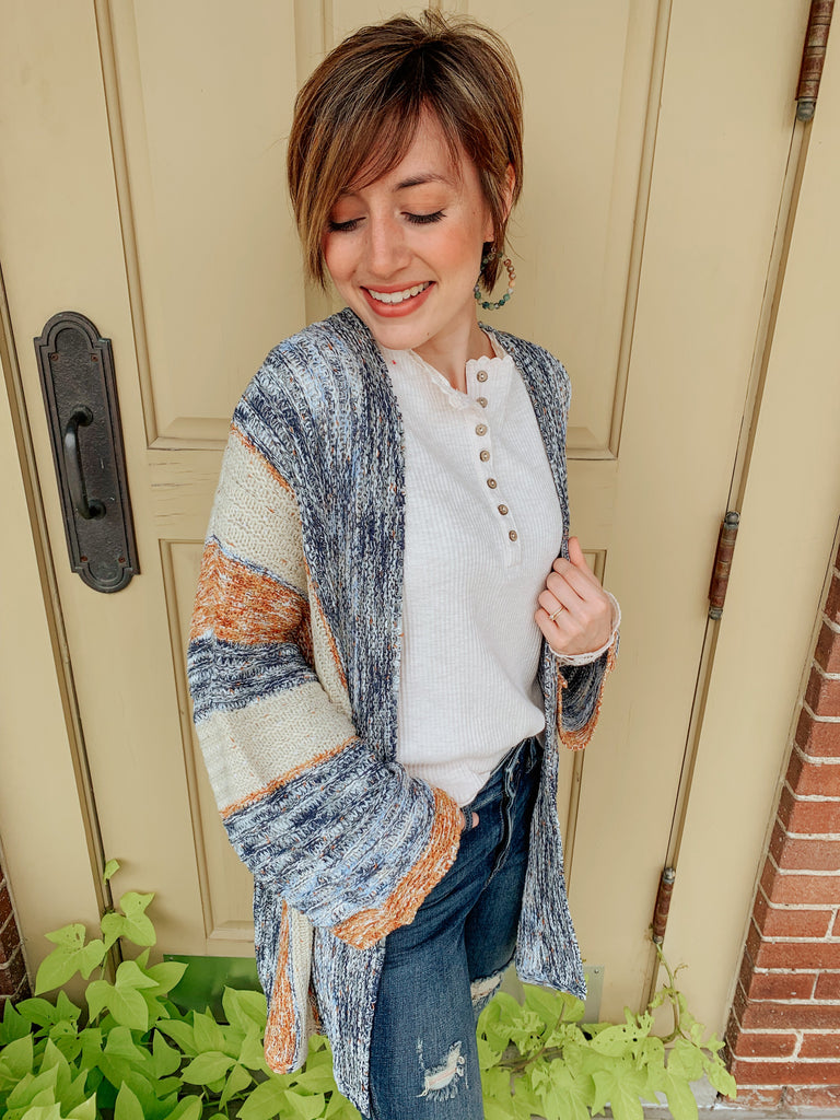 Reason to Smile Stripe Cardigan-Carolyn Jane's Jewelry