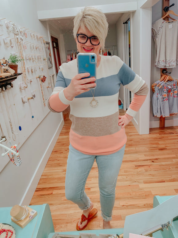 Soft & Cozy Colorblock Knit Top-Carolyn Jane's Jewelry