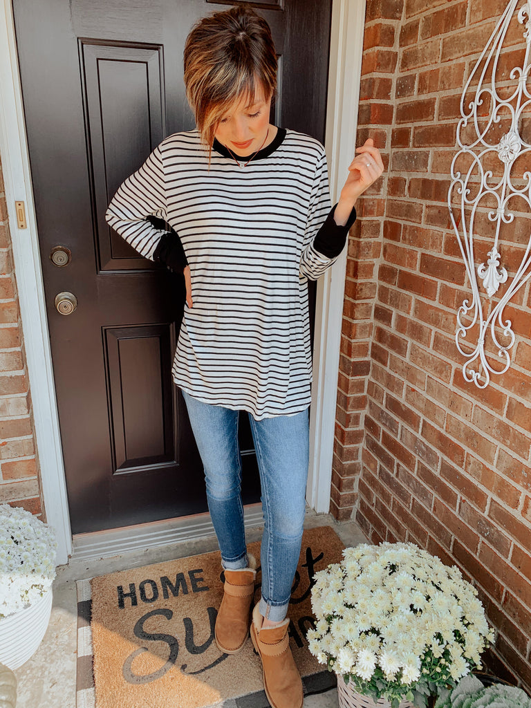 Sweet Stripes Everyday Top-Carolyn Jane's Jewelry