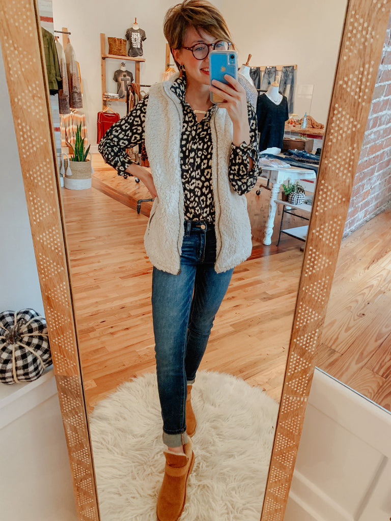 The Evie Button Up-Carolyn Jane's Jewelry